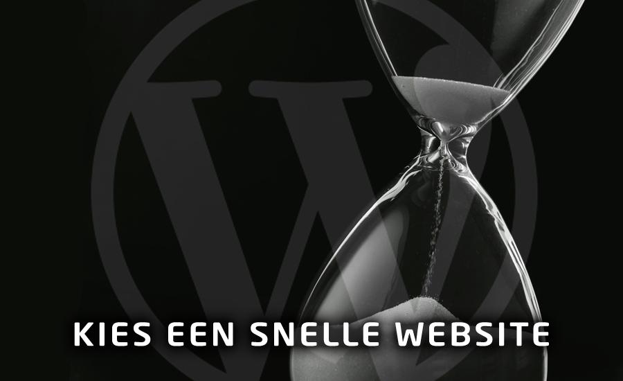 WordPress website, maar dan snel