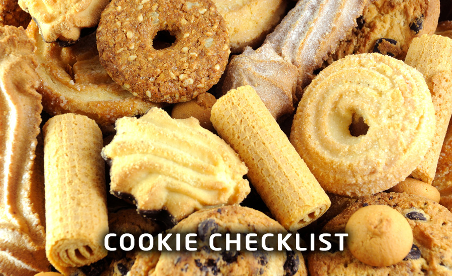 Gratis cookie checklist
